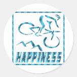 Felicidad: Ciclo Pegatina Redonda