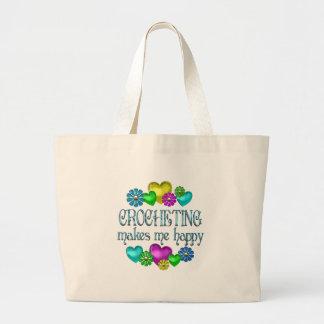 Felicidad Crocheting Bolsa Tela Grande