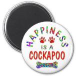 Felicidad de Cockapoo Imán De Frigorífico