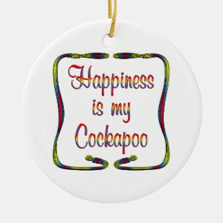 Felicidad de Cockapoo Ornamento De Reyes Magos