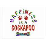 Felicidad de Cockapoo Postal