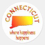 Felicidad de CONNECTICUT Etiqueta