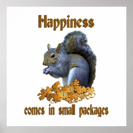 Felicidad de la ardilla poster