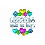 Felicidad de la biblioteca postal