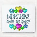 Felicidad de la biblioteca tapete de raton