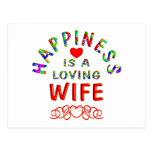 Felicidad de la esposa postal