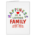 Felicidad de la familia felicitación