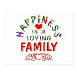 Felicidad de la familia tarjeta postal