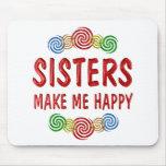 Felicidad de la hermana alfombrilla de ratón
