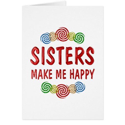 Felicidad de la hermana felicitaciones