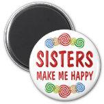 Felicidad de la hermana imán de frigorífico