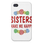 Felicidad de la hermana iPhone 4 protectores