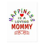 Felicidad de la mamá tarjeta postal