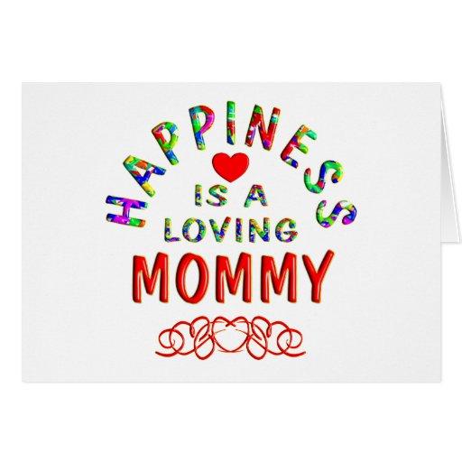 Felicidad de la mamá tarjetas