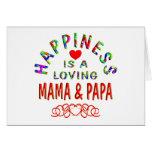 Felicidad de la mamá y de la papá tarjeta