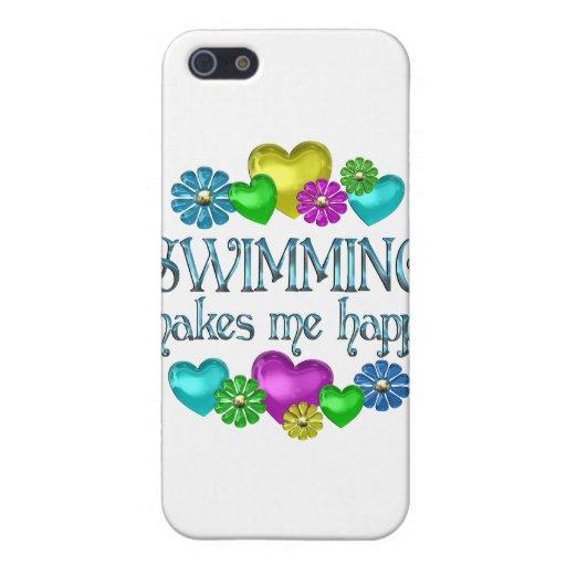 Felicidad de la natación iPhone 5 protectores