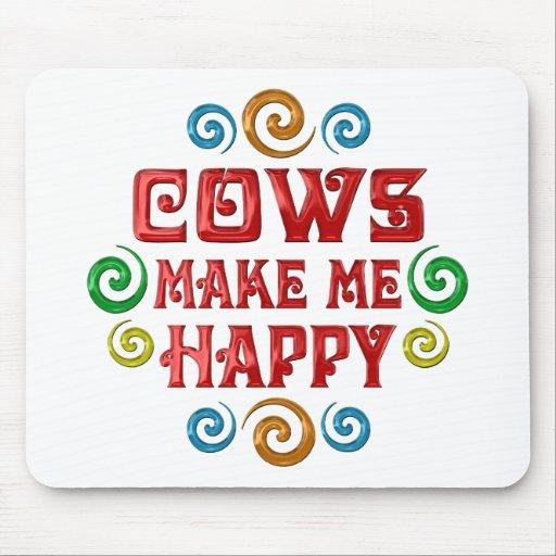 Felicidad de la vaca alfombrilla de ratones