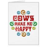 Felicidad de la vaca felicitacion
