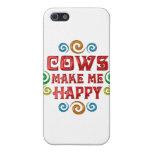 Felicidad de la vaca iPhone 5 cárcasas
