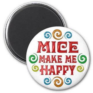 Felicidad de los ratones imán de frigorífico