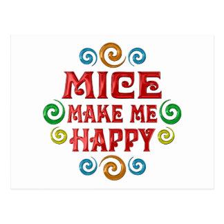 Felicidad de los ratones tarjeta postal