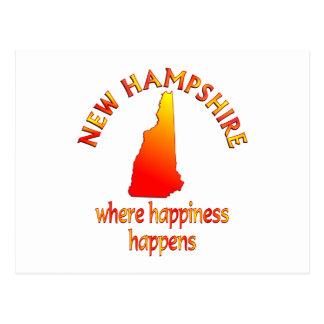 Felicidad de NEW HAMPSHIRE Postal