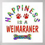 Felicidad de Weimaraner Posters