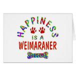 Felicidad de Weimaraner Tarjeton