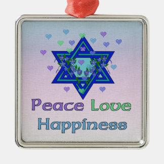 Felicidad del amor de la paz ornamentos para reyes magos