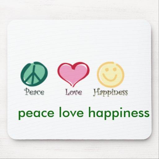 felicidad del amor de la paz, felicidad del amor d mousepads