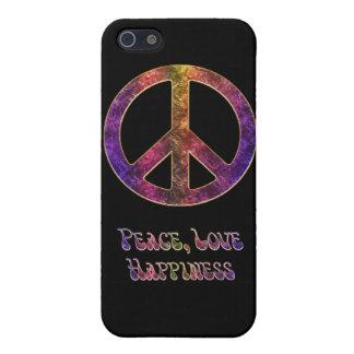 Felicidad del amor de la paz iPhone 5 cobertura