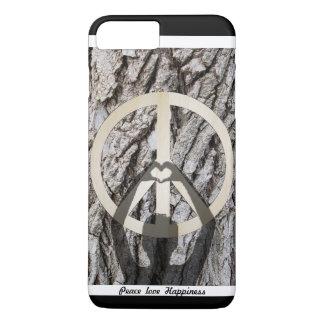 Felicidad del amor de la paz funda iPhone 7 plus