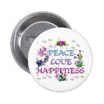 Felicidad del amor de la paz pin