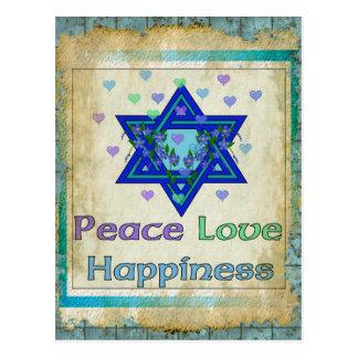 Felicidad del amor de la paz postales
