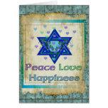 Felicidad del amor de la paz tarjetas