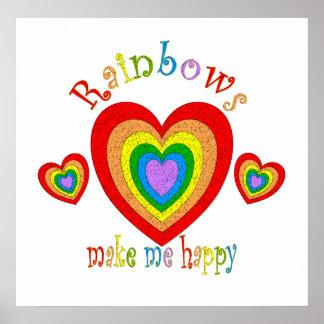 Felicidad del arco iris posters