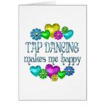 Felicidad del baile de golpecito tarjeta