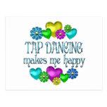 Felicidad del baile de golpecito tarjetas postales