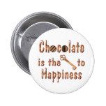 Felicidad del chocolate pin