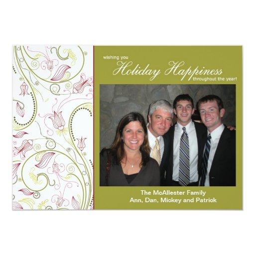 Felicidad del día de fiesta por la tinta del invitación 12,7 x 17,8 cm