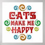 Felicidad del gato posters