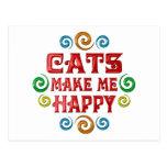 Felicidad del gato tarjeta postal