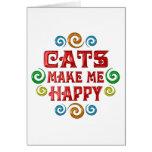 Felicidad del gato tarjeton