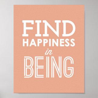 Felicidad del hallazgo en ser poster tipográfico