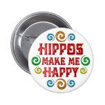 Felicidad del hipopótamo pins