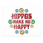 Felicidad del hipopótamo postales