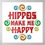 Felicidad del hipopótamo posters