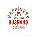 Felicidad del marido tarjeta postal