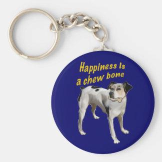 felicidad del terrier de rata llaveros personalizados