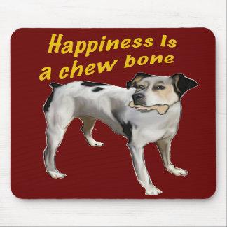 felicidad del terrier de rata alfombrillas de ratón